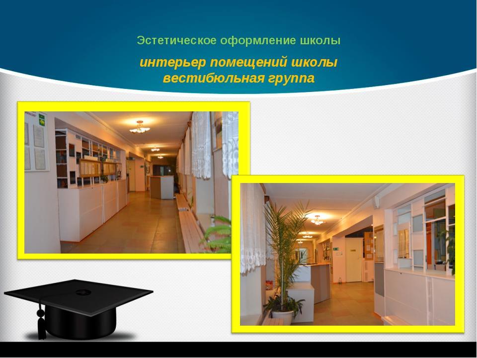 интерьер помещений школы вестибюльная группа Эстетическое оформление школы