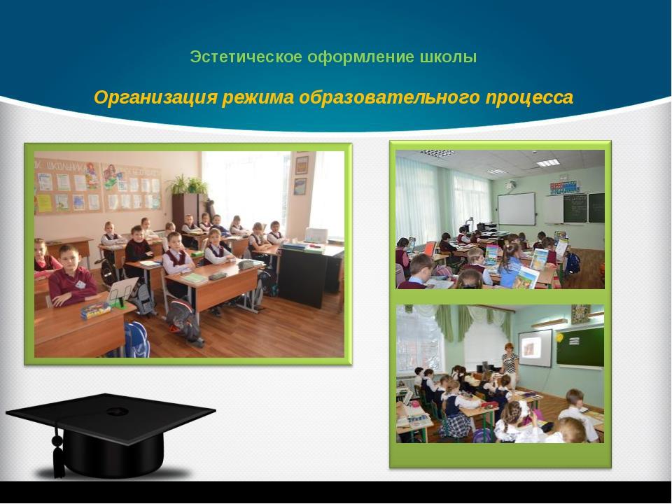 Организация режима образовательного процесса Эстетическое оформление школы