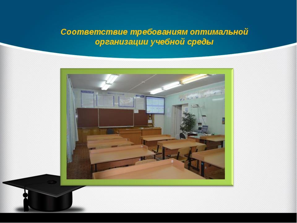 Соответствие требованиям оптимальной организации учебной среды