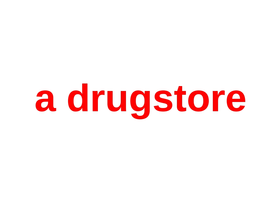 a drugstore