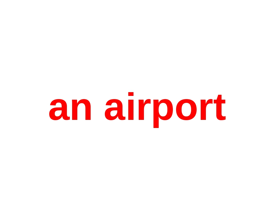 an airport