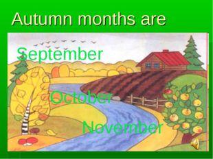 Autumn months are September October November