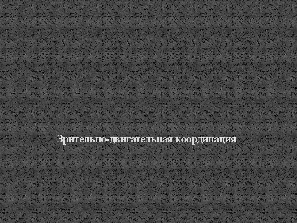 Зрительно-двигательная координация