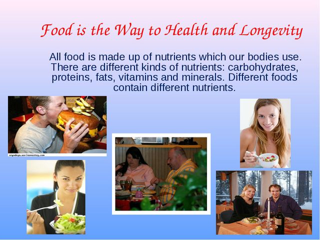 Food is the Way to Health and Longevity All food is made up of nutrients whic...