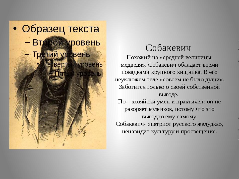 Собакевич Похожий на «средней величины медведя», Собакевич обладает всеми пов...