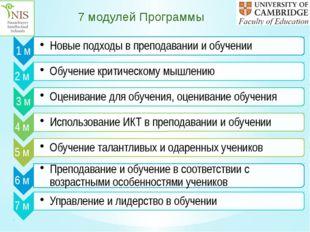 7 модулей Программы