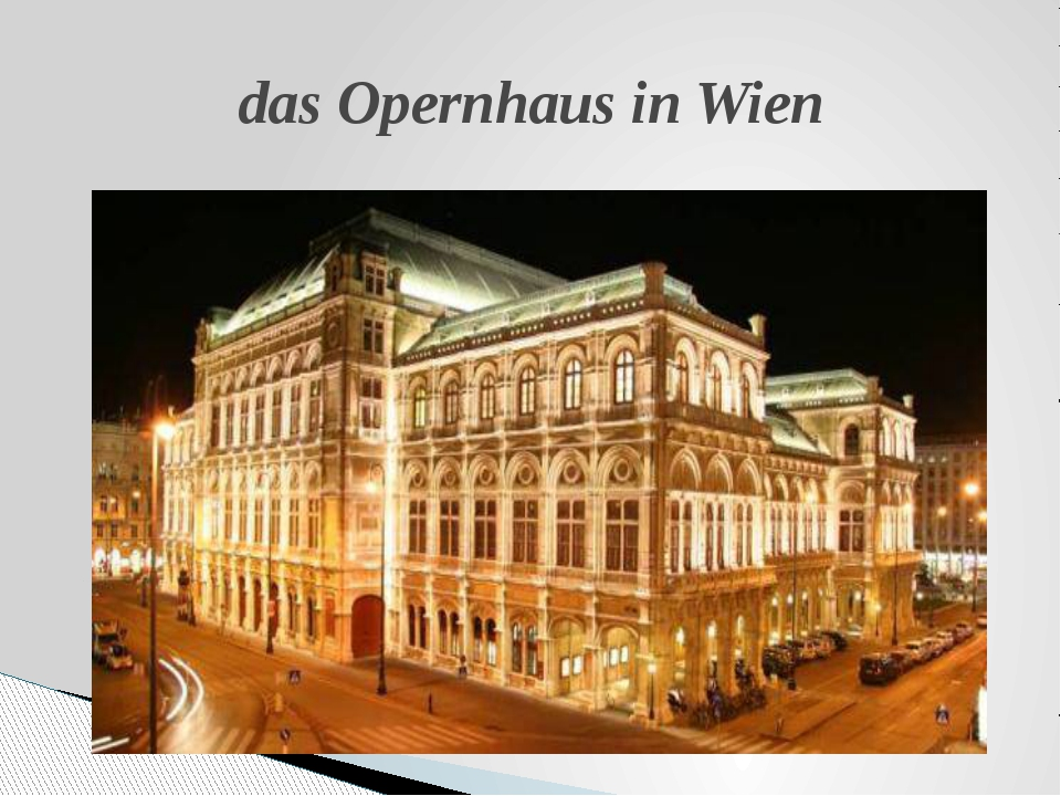 das Opernhaus in Wien