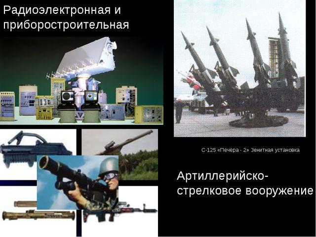 Радиоэлектронная и приборостроительная Артиллерийско-стрелковое вооружение С...