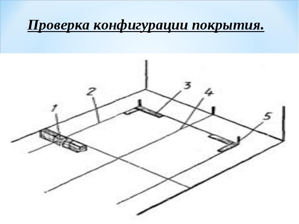 Проверка конфигурации покрытия.