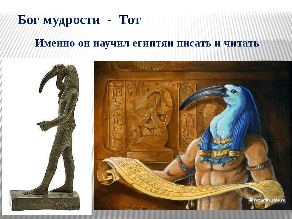 Бог мудрости - Тот Именно он научил египтян писать и читать