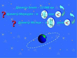 Діаметр Землі – 13 068 км
