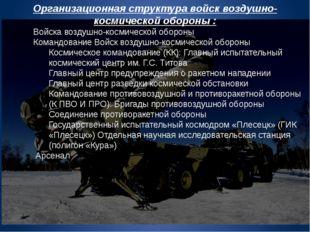 Организационная структура войск воздушно-космической обороны : Войска воздушн