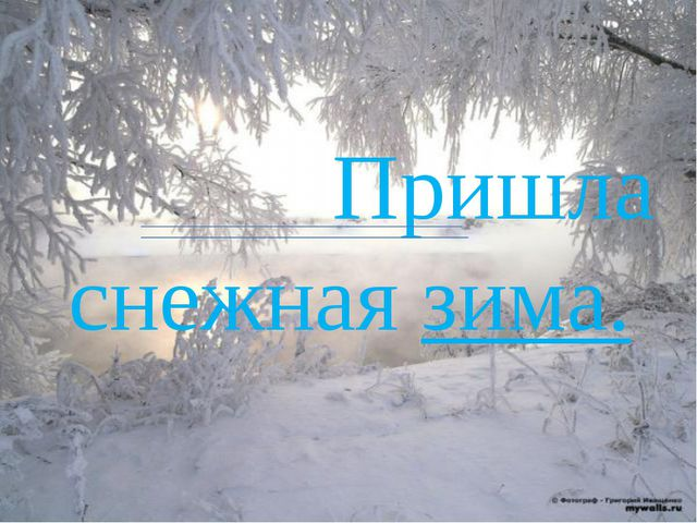 Пришла снежная зима.