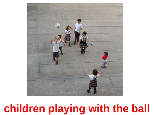 children playing with the ball