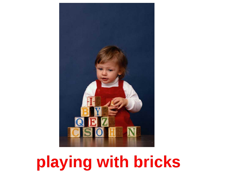 playing with bricks