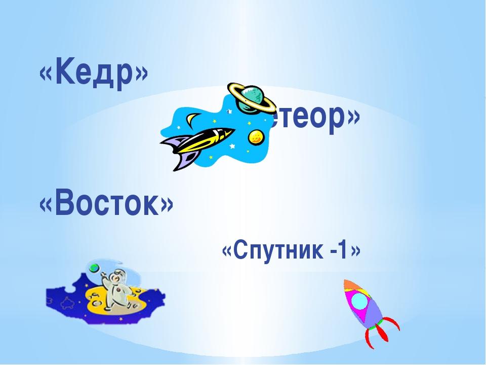 «Кедр» «Метеор» «Восток» «Спутник -1» Представление команд.