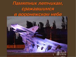 Памятник летчикам, сражавшимся в воронежском небе
