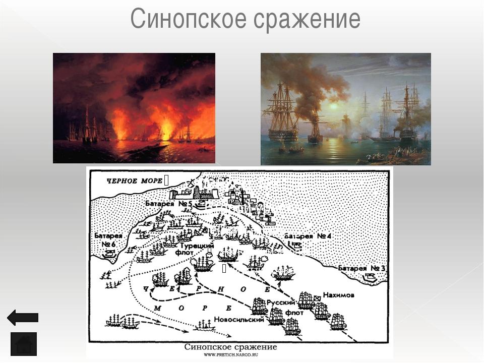 Синопское сражение Победа русского флота под командованием П. С. Нахимова над...