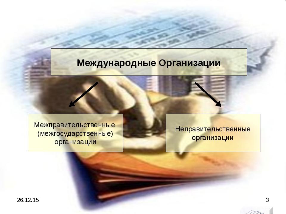 Международные Организации Межправительственные (межгосударственные) организац...