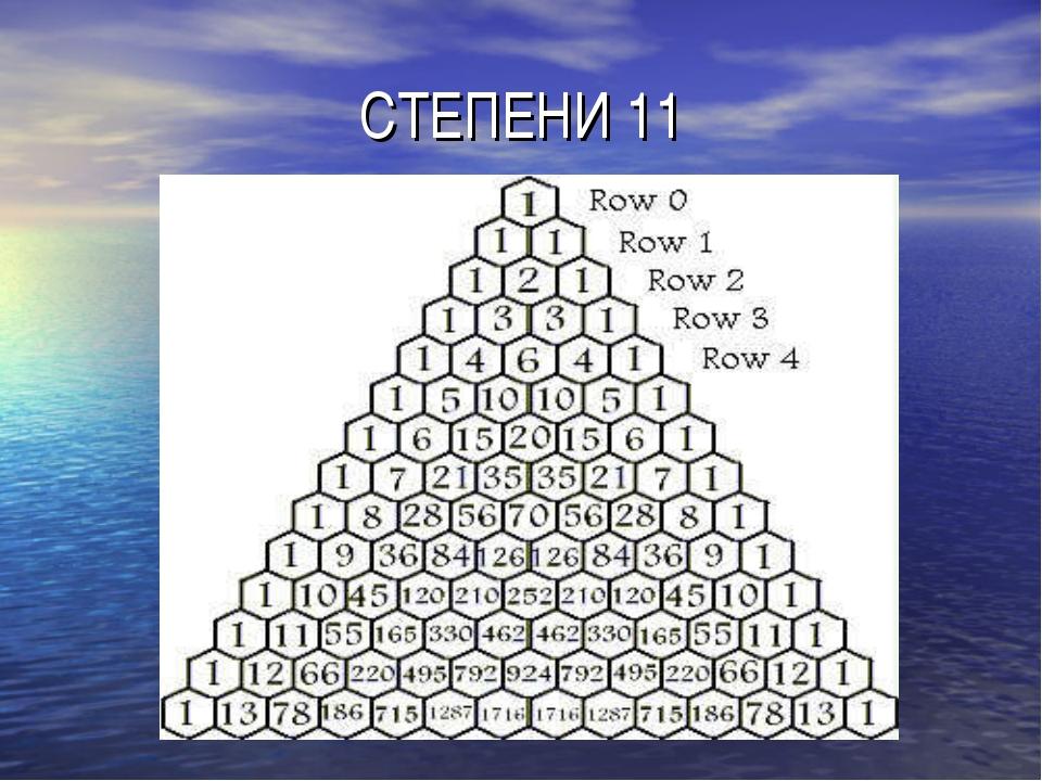 СТЕПЕНИ 11