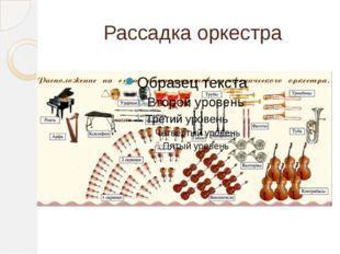 Рассадка оркестра