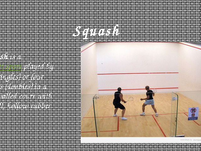 Squash Squash is a racquet sport played by two (singles) or four players (dou...