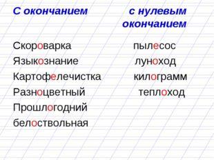 С окончанием с нулевым окончанием Скороварка пылесос Языкознание луноход Карт