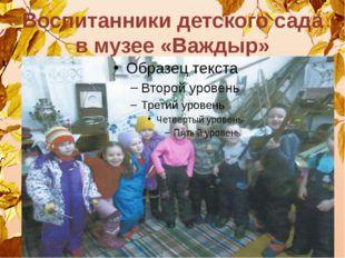 Воспитанники детского сада в музее «Важдыр»