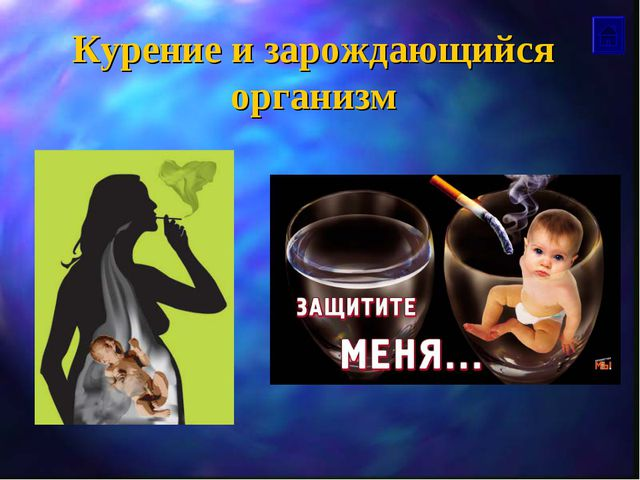 Курение и зарождающийся организм