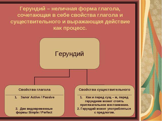 Герундий – неличная форма глагола, сочетающая в себе свойства глагола и сущес...