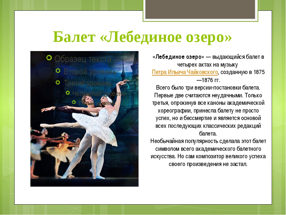 tchaikovsky swan lake essay