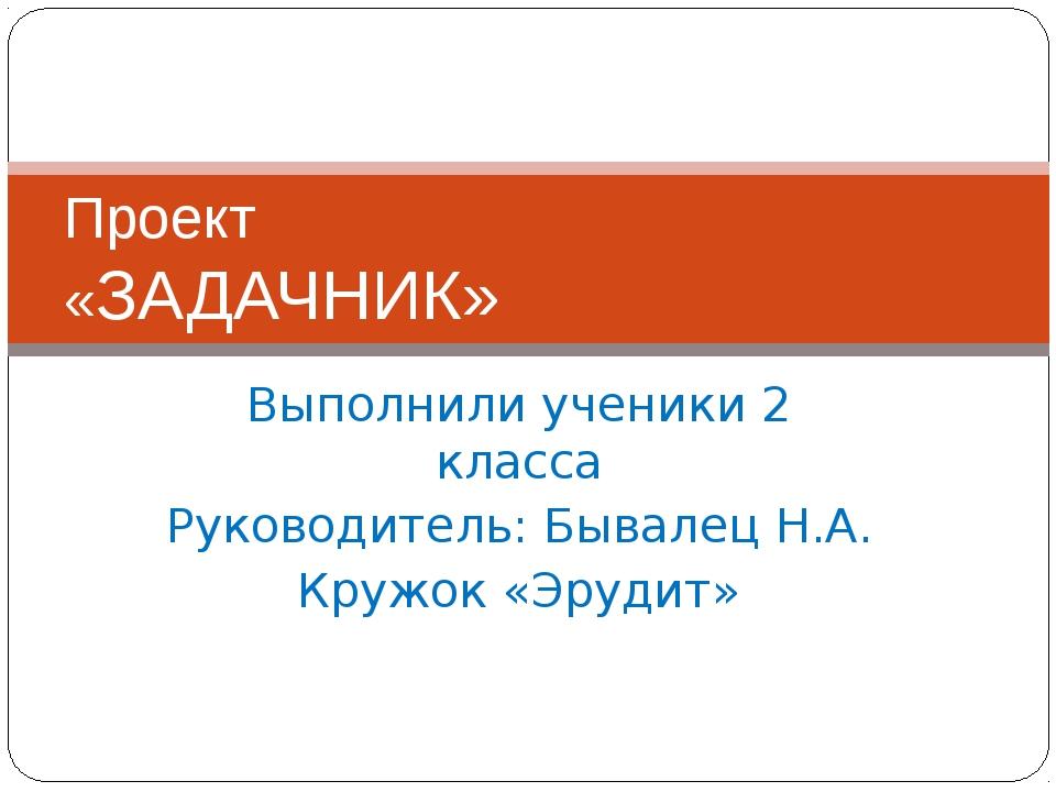 Выполнили ученики 2 класса Руководитель: Бывалец Н.А. Кружок «Эрудит» Проект...