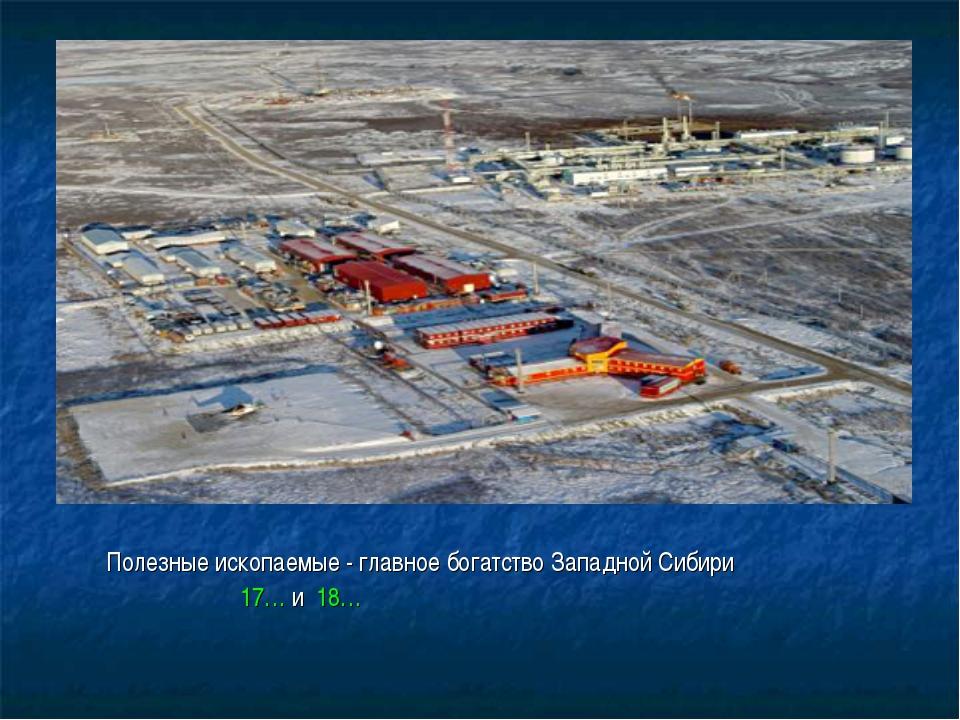 Полезные ископаемые - главное богатство Западной Сибири 17… и 18…
