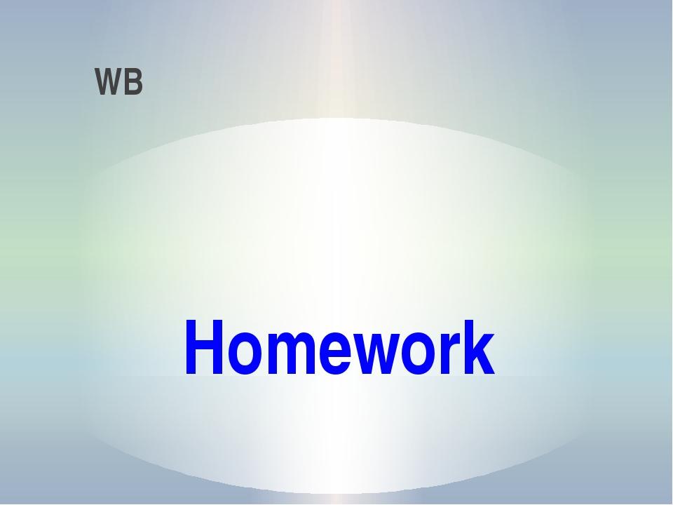 Homework WB
