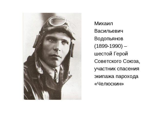 Михаил Васильевич Водопьянов (1899-1990) – шестой Герой Советского Союза, уча...
