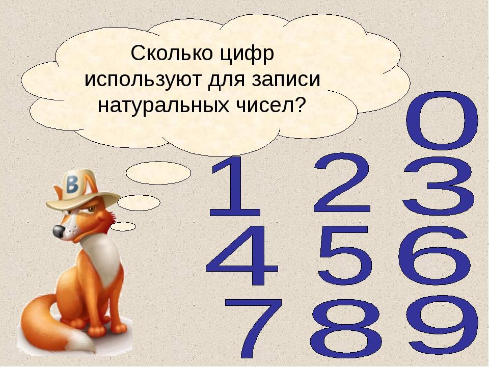 Сколько цифр используют для записи натуральных чисел?