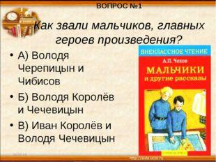 30.01.16 * А) Володя Черепицын и Чибисов Б) Володя Королёв и Чечевицын В) Ива