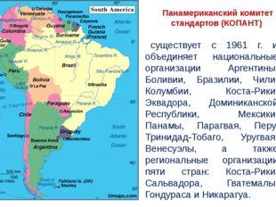 Панамериканский комитет стандартов (КОПАНТ) существует с 1961 г. и объединяет