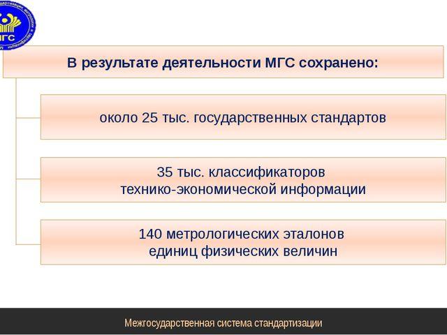 Межгосударственная система стандартизации В результате деятельности МГС сохра...