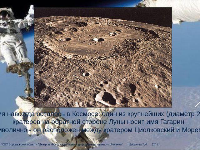 Его имя навсегда осталось в Космосе: один из крупнейших (диаметр 250 км) кра...
