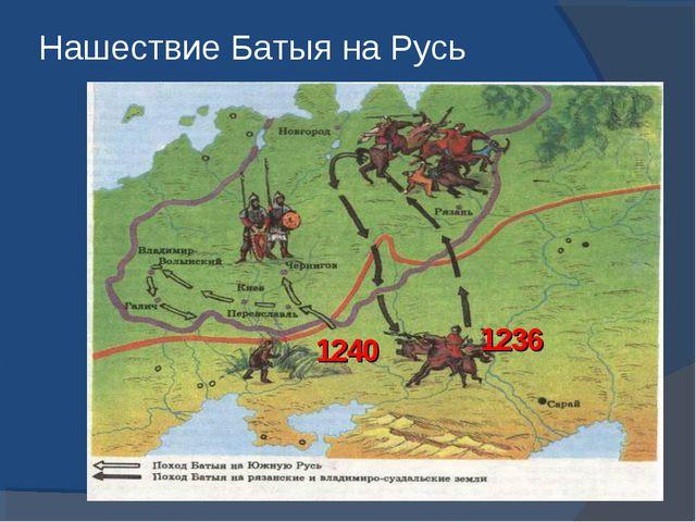 Нашествие Батыя на Русь 1236 1240