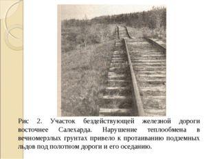Рис 2. Участок бездействующей железной дороги восточнее Салехарда. Нарушение