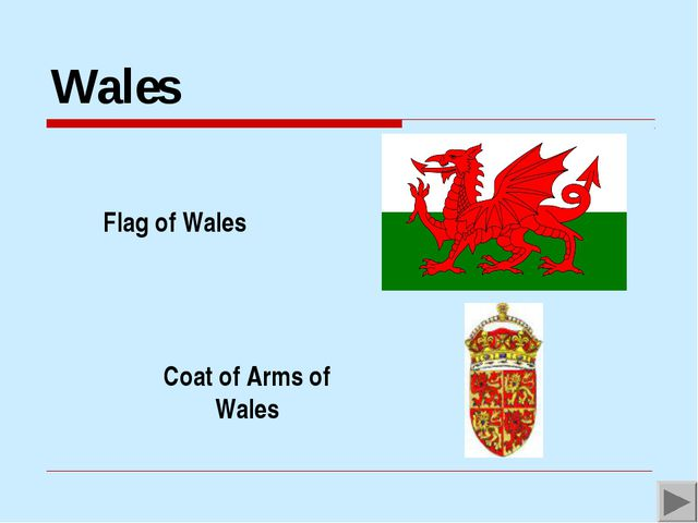 Wales Flag of Wales Coat of Arms of Wales