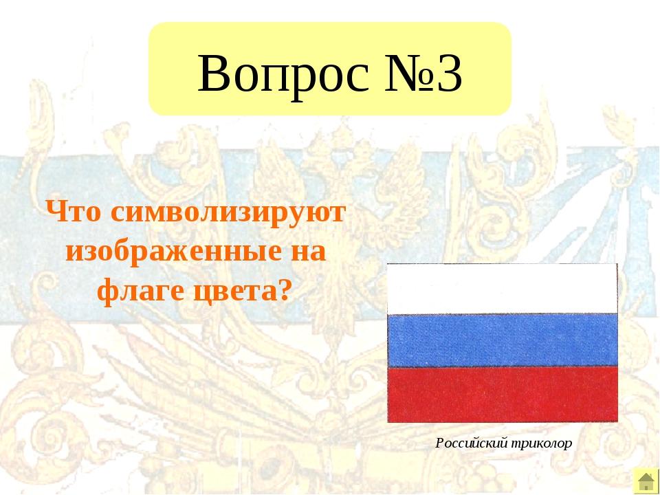 Вопрос №3 Что символизируют изображенные на флаге цвета?