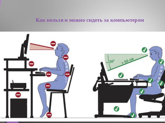 Как нельзя и можно сидеть за компьютером