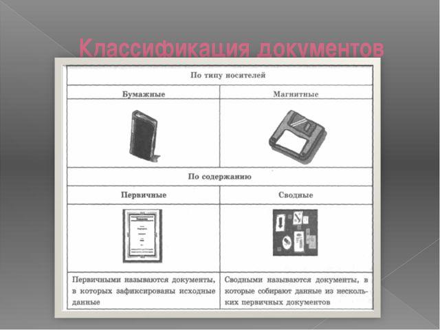 Классификация документов Цели обучения и ожидаемые умения и навыки, вырабатыв...