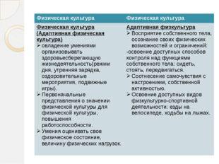 Физическая культура Физическая культура Физическая культура (Адаптивная физи
