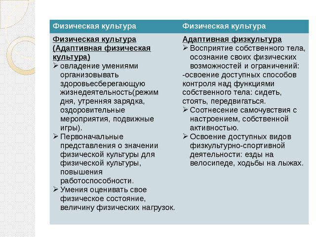 Физическая культура Физическая культура Физическая культура (Адаптивная физи...