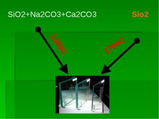 Sio2 1700C SiO2+Na2CO3+Ca2CO3 1300C