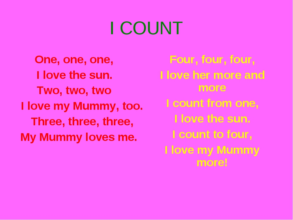 I COUNT